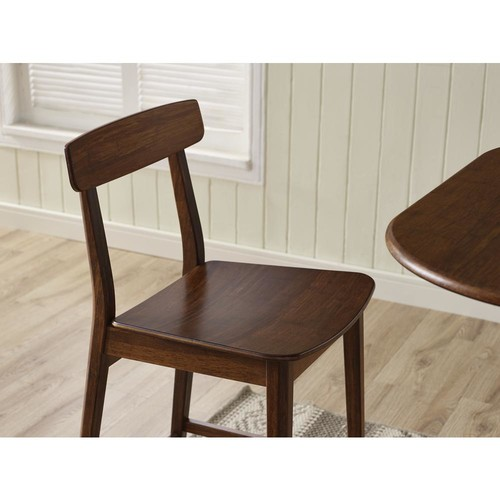 Greenington Currant 30 in. Exotic 100% Solid Bamboo Bar Stool with Back (Set of 2)