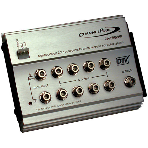 Linear Channel Plus DA-550HHR RF Distribution Amplifier - 8-way - 1GHz