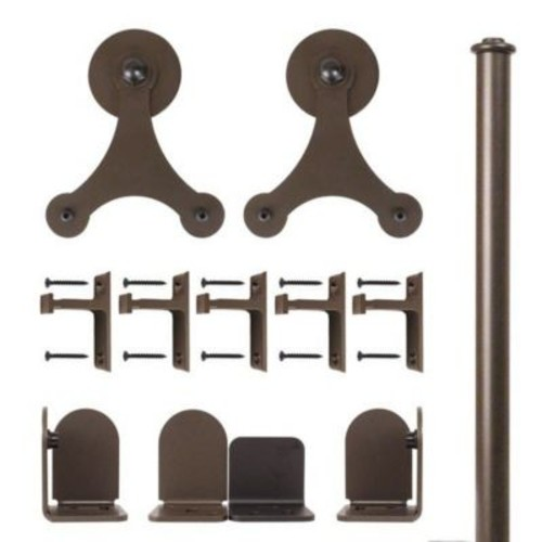 Quiet Glide Tri-Star Barn Door Hardware Kit; Oil Rubbed Bronze