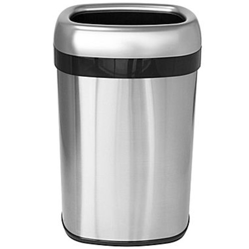 iTouchless 13 Gal., 12 in. Opening Commercial Grade Stainless Steel Dual-Deodorizer Oval Open Top Trash Can