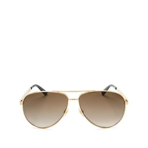 GUCCI Classic Pilot Aviator Sunglasses, 61Mm