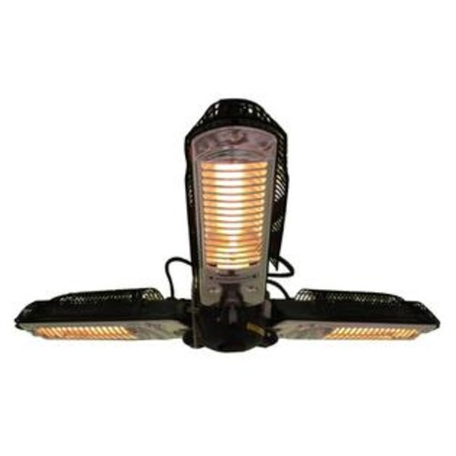 Well Traveled Living Fire Sense Indoor/Outdoor Infrared Heater With Patio Umbrella Pole Attachment