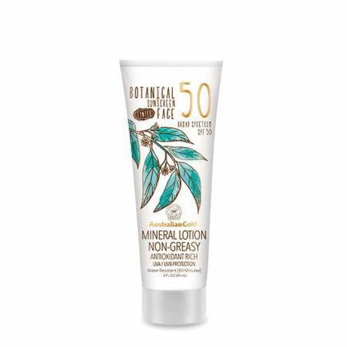 Australian Gold Botanical Sunscreen SPF 50 Tinted Face Mineral Lotion
