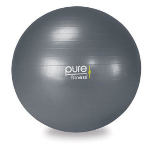Pure Fitness 75 cm Anti-Burst Exercise Ball with Hand Pump and 16-Exercise Fitness Guide