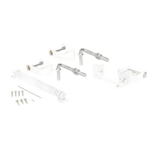 US Door & Fence White Steel Deluxe Fence Gate Hardware Kit