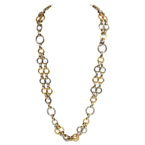YSL Two-Tone Chain Link Necklace