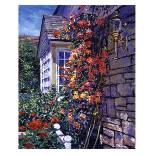Trademark Global David Lloyd Glover 'Magnificent Climbing Roses' Canvas Art [Overall Dimensions : 35x47]