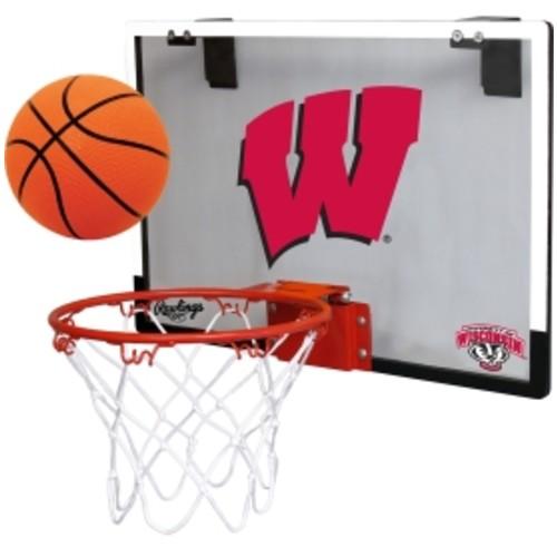 Rawlings Wisconsin Badgers Game On Backboard Hoop Set