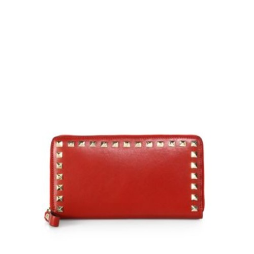 VALENTINO Rockstud Zip-Around Continental Wallet