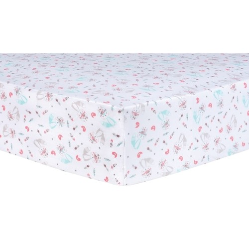 Trend Lab Fox and Flowers Fitted Crib Sheet