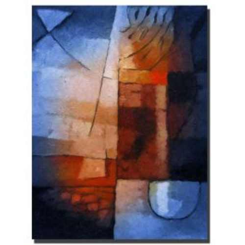 Trademark Fine Art 18 in. x 24 in. Abstract in Blue Canvas Art