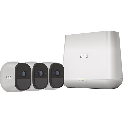 Arlo - Pro Indoor/Outdoor HD Wire-Free Security Camera System (3-Pack) - White