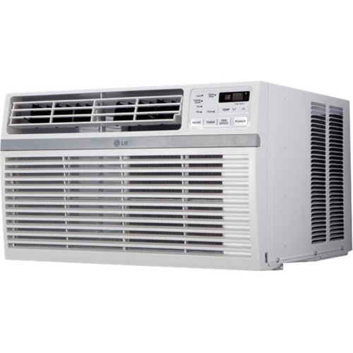 LG - 18,000 BTU Window Air Conditioner - White