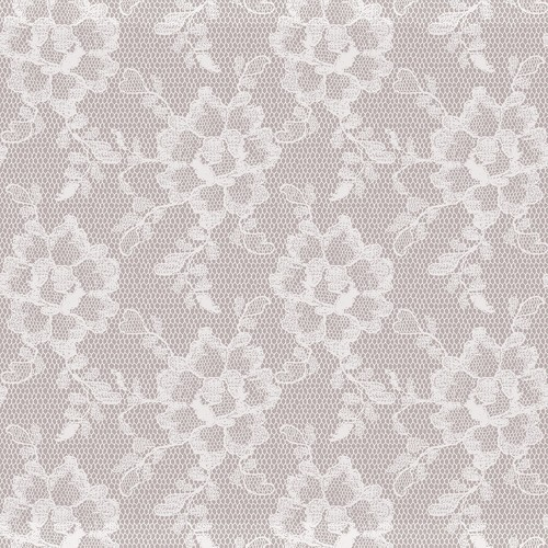Sample Lace Textured Self Adhesive Wallpaper in White Chocolate design by Tempaper