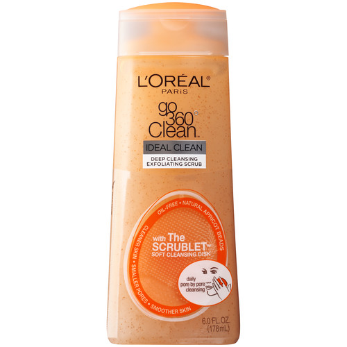 L'Oreal Skin Expertise Go 360 Clean Deep Exfoliating Scrub, 6.0 fl oz (178 ml)