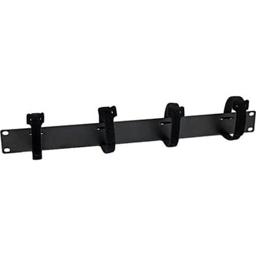 StarTech.com Cable Management Panel with Hook and Loop Strips for Server Racks - 1U
