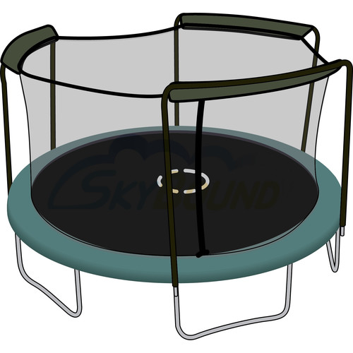 Skybound 15Ft Trampoline Net (Fits Bounce Pro, Sportspower Brands With 3 Arched-Pole Enclosures) -Net Only