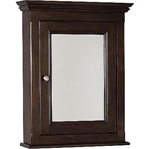 American Imaginations 22.5-in. W x 30-in. H Traditional Birch Wood-Veneer Medicine Cabinet In Walnut