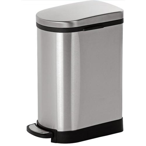 Joyware 10 Liter Slim Shaped Stainless Steel Trash Can
