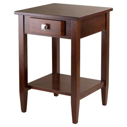 Richmond End Table With Tapered Leg Walnut Finish - Winsome