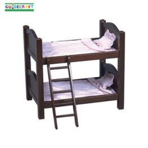Guidecraft Espresso Wooden Doll Bunk Bed - Fits 18