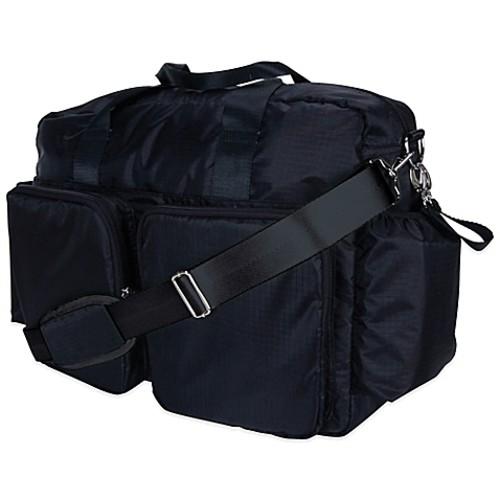 Trend Lab Deluxe Duffle Diaper Bag in Black/Green
