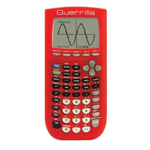 Guerrilla Silicone Case For Texas Instruments TI 84 Plus Graphing Calculator, Red