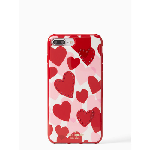 jeweled heart iPhone 7/8 plus case