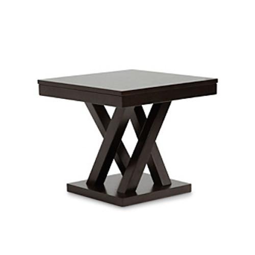 Baxton Studios Everdon Dark Brown Modern End Table