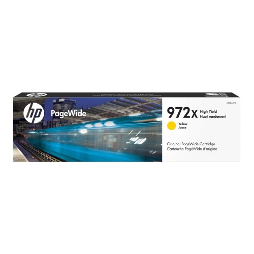 HP Inc. 972X - 86 ml - High Yield - yellow - original - PageWide - ink cartridge - for PageWide Pro 452dn, 452dw, 452dwt, 477dn, 477dw, 477dwt, 552dw, 552dwt, 577dw, 577z (L0S04AN)