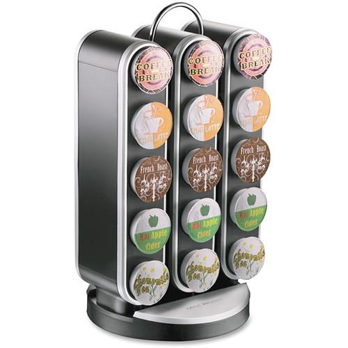 Mind Reader Coffee Pod Carousel, 30 Pod Capacity, Black (EMSSPNR3BLK)