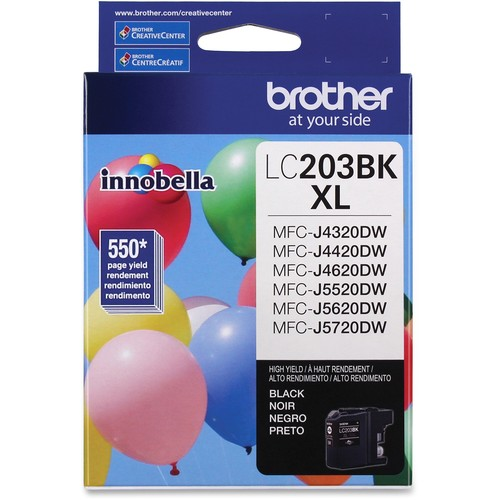 Brother LC203BK Lc203bk Innobella High-Yield Ink, Black