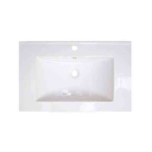 25-in. W x 22-in. D Ceramic Top In White Color For Single Hole Faucet