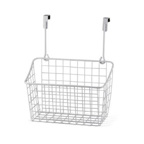 Spectrum Grid 10.125 in. W x 6.625 in. D x 11.25 in. H Over the Cabinet Medium Basket in White