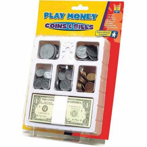 Educational Insights Play Money - Coins & Bills Try: Toys & Games [1]