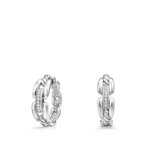 Wellesley Hoop Earrings with Diamonds
