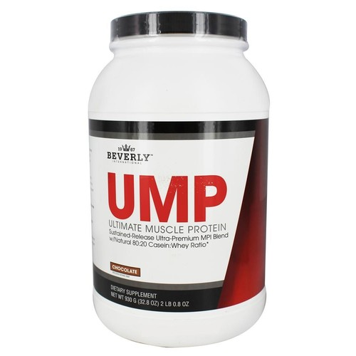 Beverly International UMP Protein Powder 30 servings, Chocolate. Unique whey-casein ratio builds lean muscle and burns fat for hours. Easy to digest. No bloat. [Chocolate]