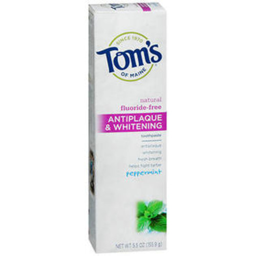 Tom's of Maine Antiplaque & Whitening Fluoride-Free Toothpaste Peppermint - 5.5 oz