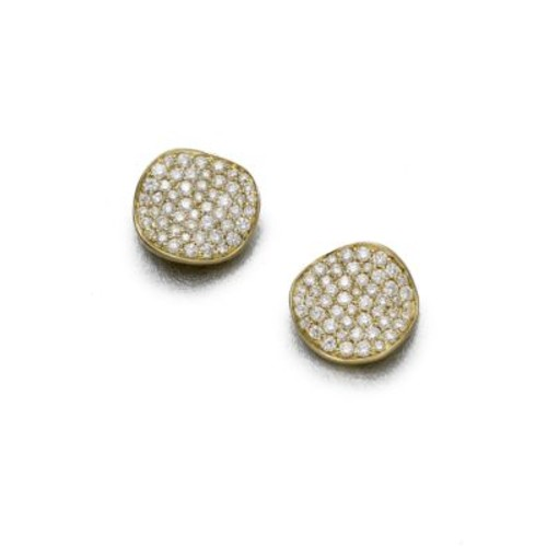 Stardust Diamond & 18K Yellow Gold Large Stud Earrings
