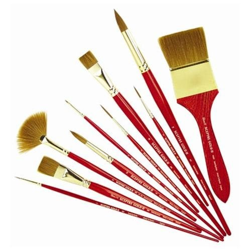 Sceptre Gold II Series 202 Designer Round Brush (Set of 10) - Size: 1 (Set of 3)