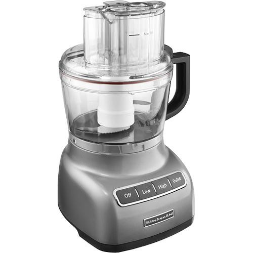 KitchenAid - KFP0922CU 9-Cup Food Processor - Contour Silver