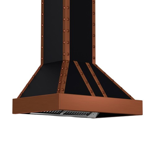 ZLINE Kitchen and Bath ZLINE 36 in. 1200 CFM Wall Mount Range Hood in Oil-Rubbed Bronze and Copper