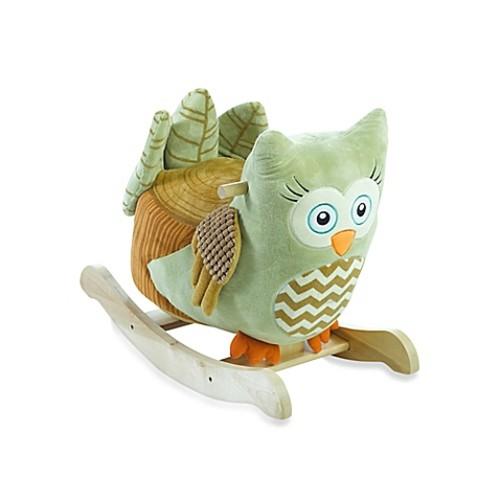 Rockabye Owliver Green Owl Chair Musical Rocker