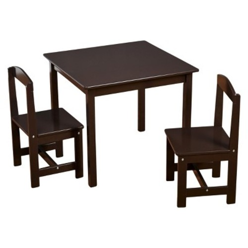 Madeline Kids Table and Chairs Set Espresso - TMS