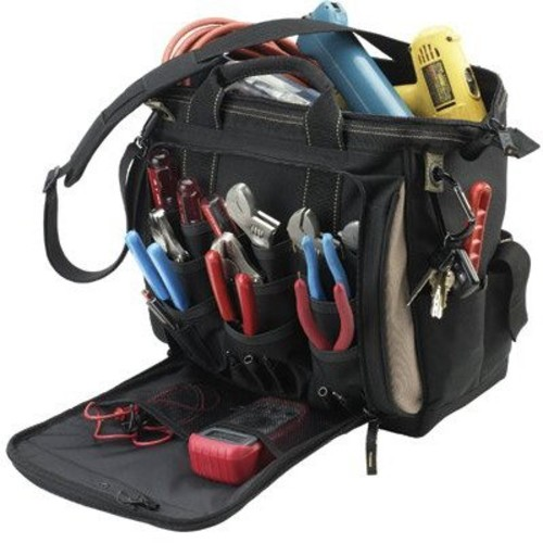 CLC Custom Leathercraft 1537, Multi-Compartment Tool Carrier, 30 Pockets, 13 Inch