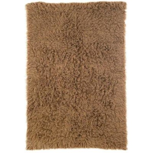 nuLOOM Genuine Greek Flokati Milk Chocolate 4 ft. x 6 ft. Area Rug