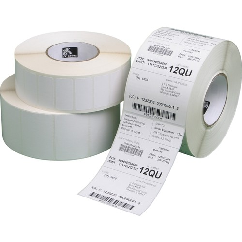 Zebra Technologies Z-Perform 2000D - Perforated coated all-temp permanent acrylic adhesive paper labels - bright white - 3 in x 2 in 7440 label(s) ( 6 roll(s) x 1240 ) - for Desktop GX420 (10010029)