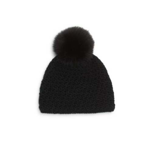 Surell - Fox Fur Pom-Pom Hat