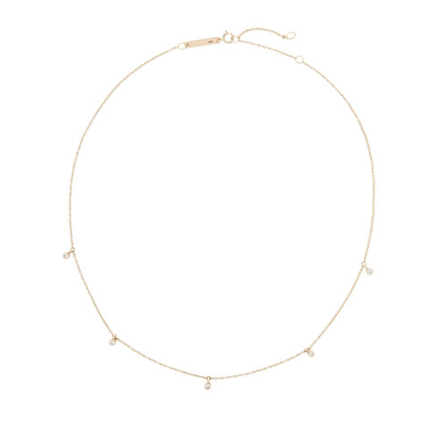 Delicate Hanging Diamonds Necklace