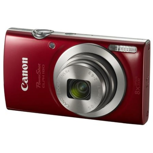 Canon PowerShot ELPH 180 Digital Camera and Free Accessories, Red 1096C001 A